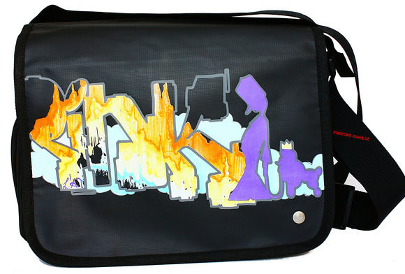Poodlebag young art graffity<br>Pink big