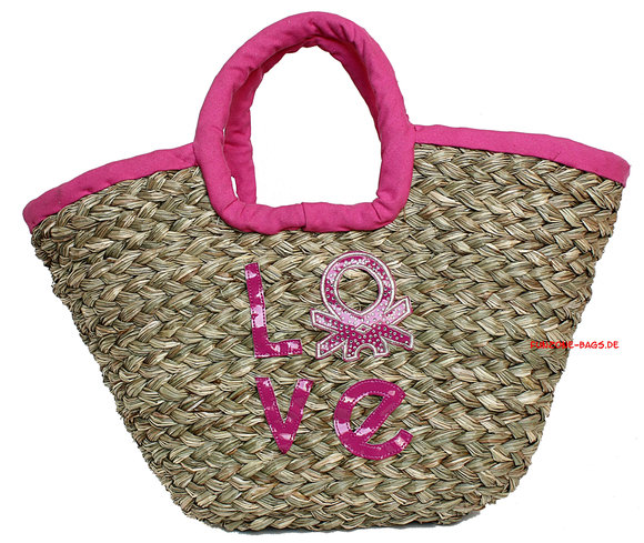 Benetton Karla Korb-Shopper fuchsia
