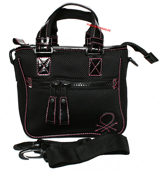 Benetton Rei Mini Shopper black-fuchsia