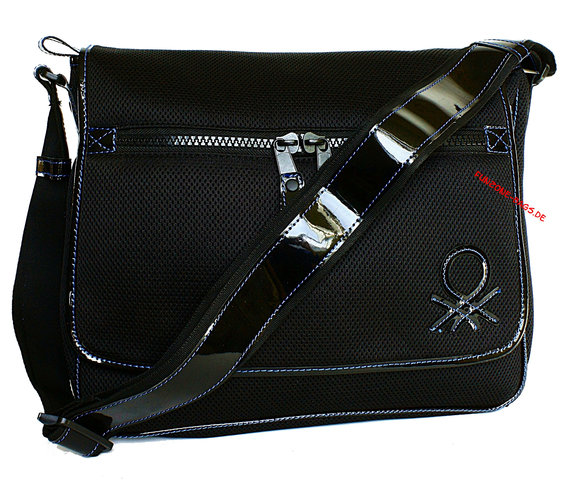 Benetton Rei Messenger bag black-blue