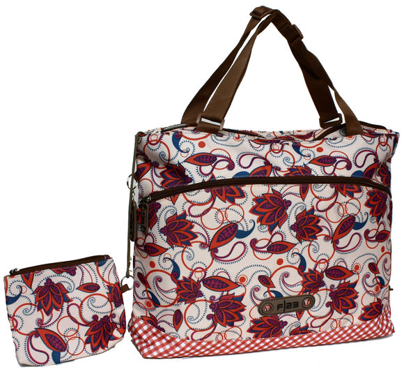 Friedrich F/23 Shopper<br>Flower rot/lila/blau